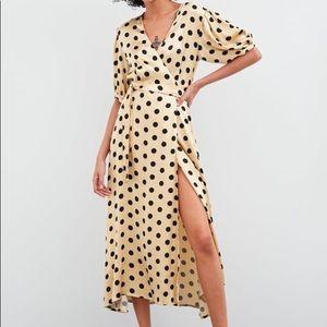 Zara Polka Dot Wrap Dress (Small)
